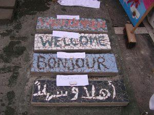 So sehen die Willkommensgrüße in Mosaik aus