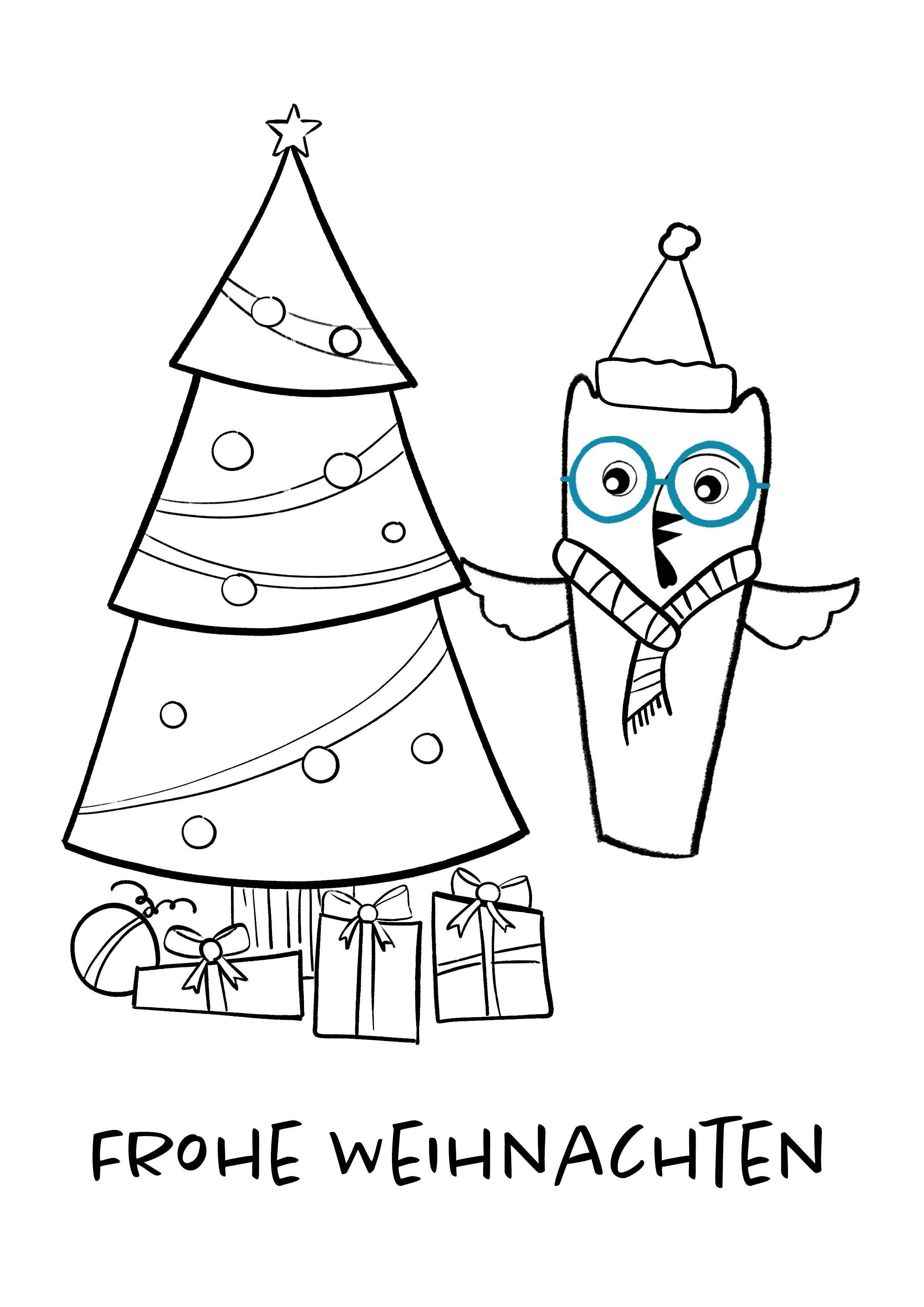 Ausmalbild zu Weihnachten